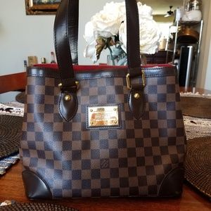 Authentic Louis Vuitton Damier Ebene Hampstead PM